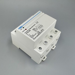 Image 3 - 60A 380V~ Three Phase four wire Din rail automatic recovery reconnect over voltage and under voltage protective protection relay