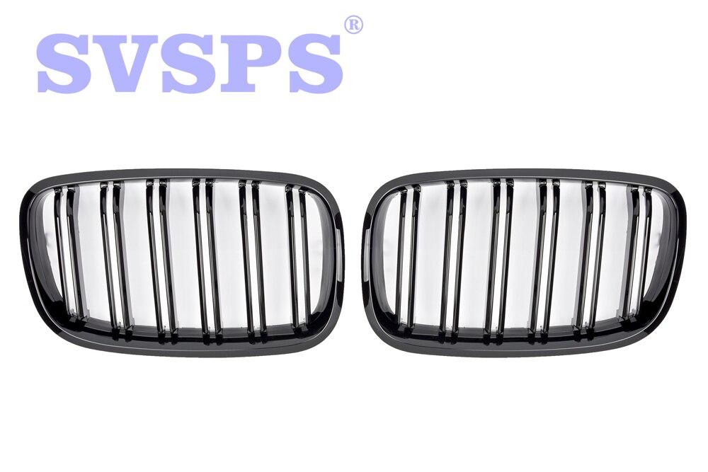 Haute Qualité ABS Avant Calandre Double Lattes Style Pour BMW E70 X5 SUV 4 Porte 2006-2013