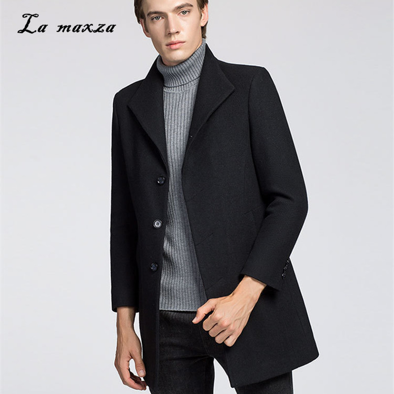 Mens Coats Dress Plus-Size Casual Winter Fashion Slim Smart Formal New-Arrivals