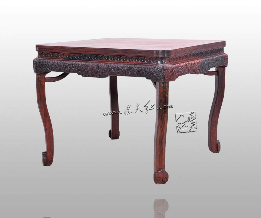 Coffee Tea Small Table Rosewood Living Roome Furniture Solid wood Corner Desk Chinese Classica Fitment Annatto Carvings Antique