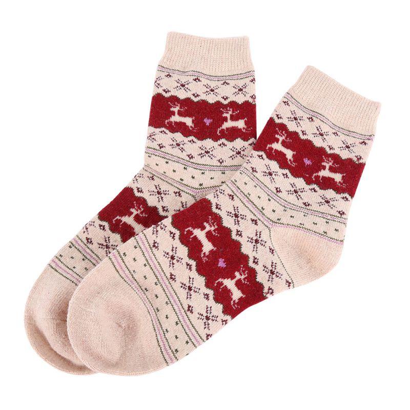 women christmas gift snowflake deer women wool funny warm winter
