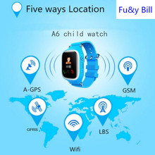 Fu&y Bill  2017 New kids A6+ smart Watch gps Children Smart Watch with SOS Support GSM phone Android&IOS