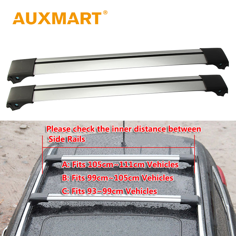 Auxmart Universal Roof Rack Cross Bar 93~111cm with Anti-theft Lock Car Roof Rails Racks Boxes Load Cargo Luggage Carrier Auto teaegg top roof rack side rails luggage carrier for hyundai tucson ix35 2010 2014
