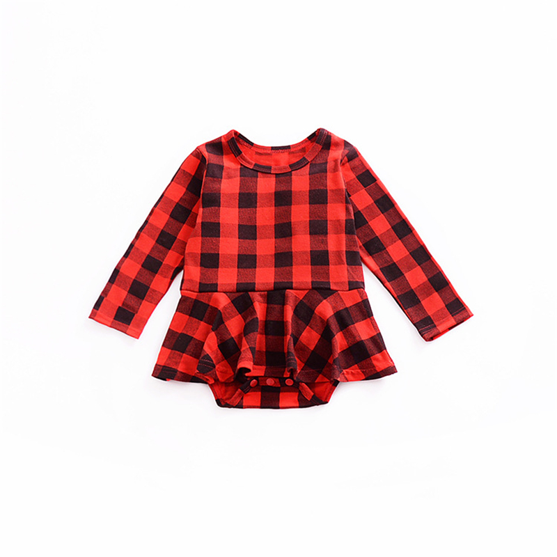 2018 New Fashion British Style Baby Bodysuit Baby Girl Onesie Black And Red Long Sleeve Bodysuits Baby Girl Clothes 6-24 Month