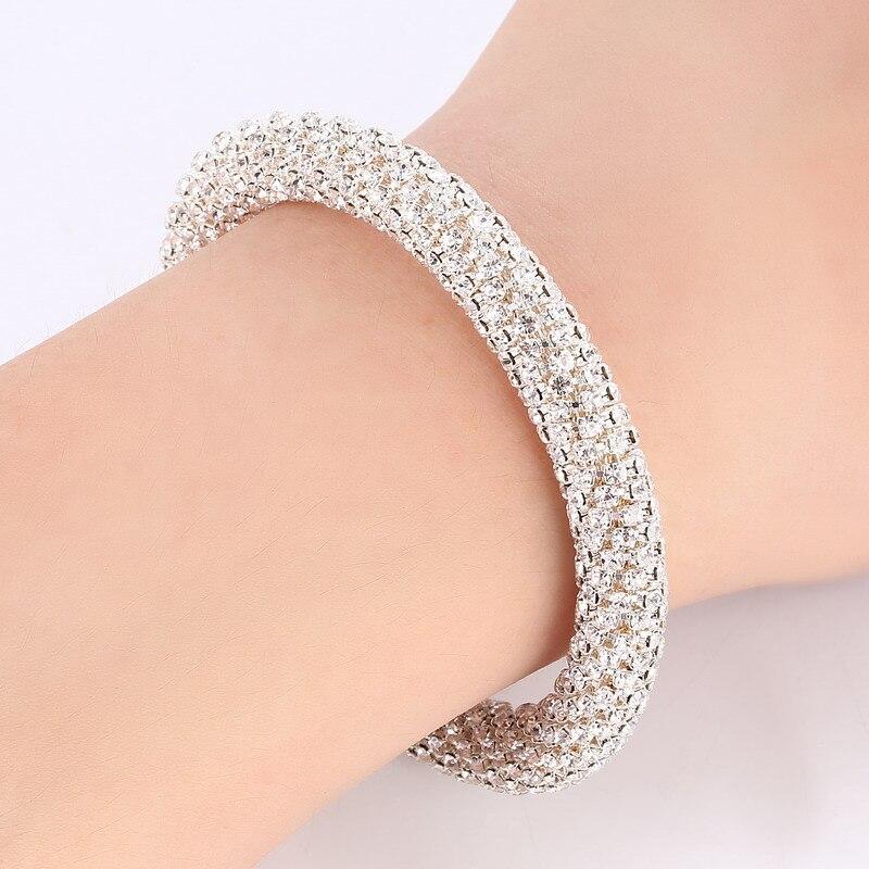 LOVBEAFAS Fashion Luxury Cuff Bracelets & Bangles For Women Crystal Rhinestone Vintage Bracelets Fine Jewelry Accessories 2