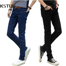 Hot Sale Men Jeans Pencil Pants Stretch Jeans Men Brand Casual Slim Fit Pants Skinny Boys Male Denim Biker Man Blue Black Grey