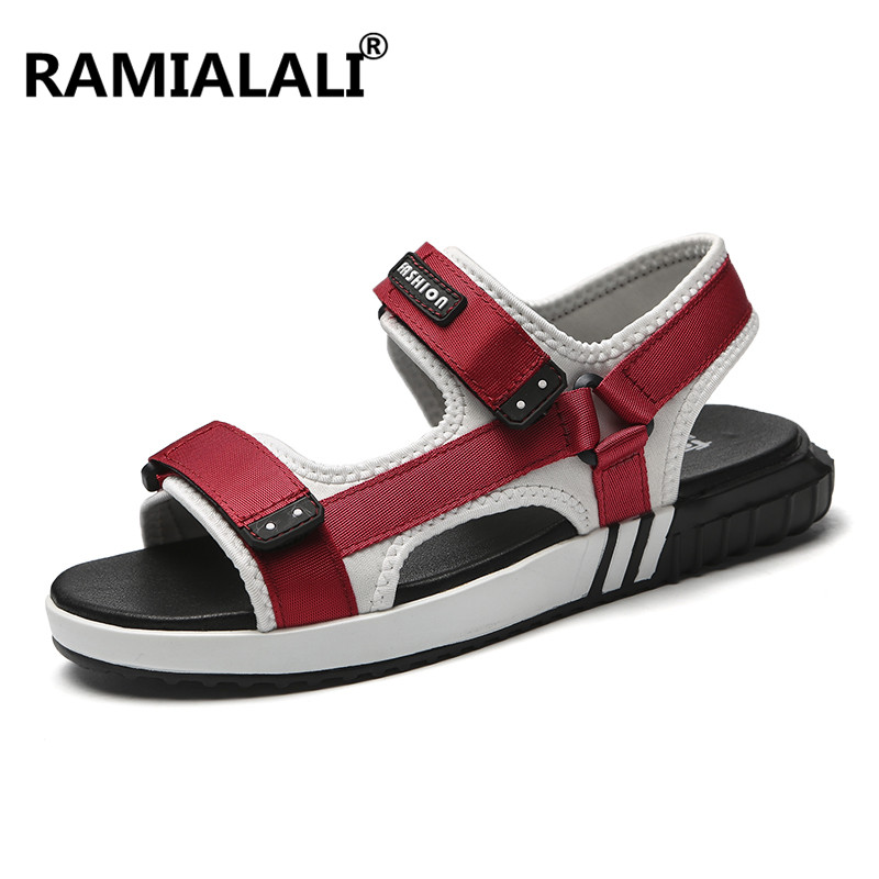Ramialali été Hommes Sandales Plat Respirant Hommes Chaussures Décontractées Hommes Sandales De Plage Décontractées Chaussures D'été Gladiateur
