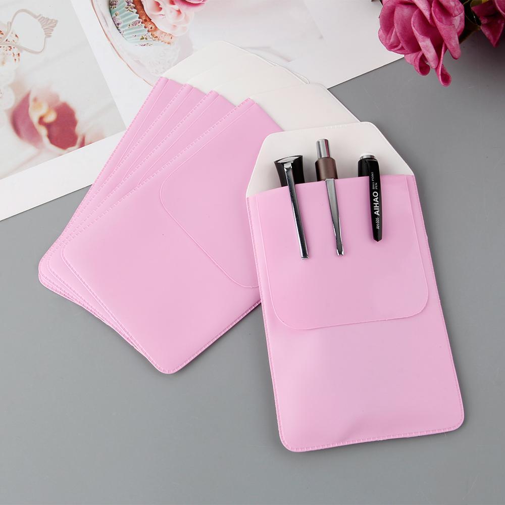 5Pcs/Bag PVC Pen Bags Pencil Case Pocket Protector Office Hospital Doctor Nurse Supply