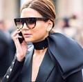 Woman Flat Top Mirror Sun Glasses Cat Eye Sunglasses French brand oculos De Sol