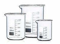 250 400 500 800ml Low Form Beaker Chemistry Laboratory Borosilicate Glass Beaker Thickened With Spout FREE