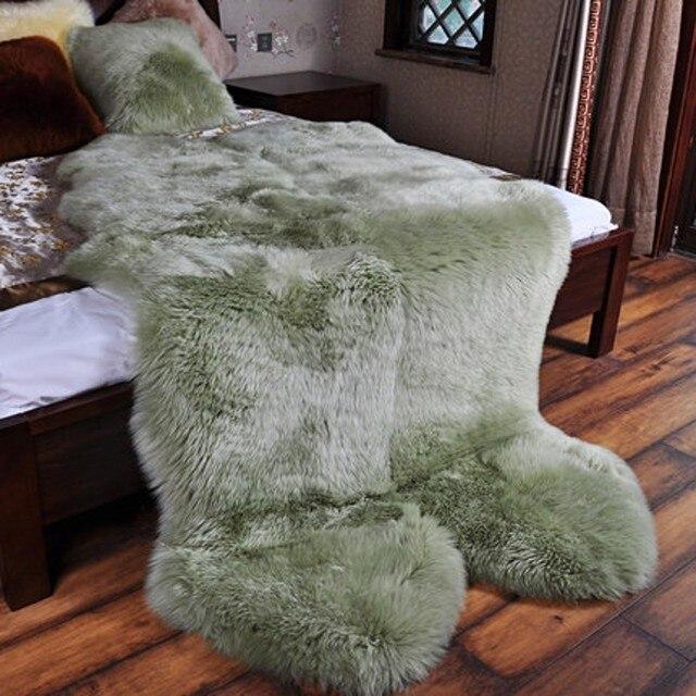 4p Genuine Sheepskin Rug Real Australian Royal Carpet Four Pelt Extra Large Quarto Fur