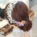 Handmade Headdress with Pearls Wedding Accessories Crystal-Bridal-Headpieces for Women HS005