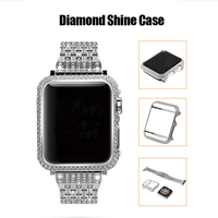 SIKAI Diamond Shine 40mm 44mm Watch Case For Apple Watch 4 Protective Luxury Fashion High end Watch Cover For iWatch 4 Shell