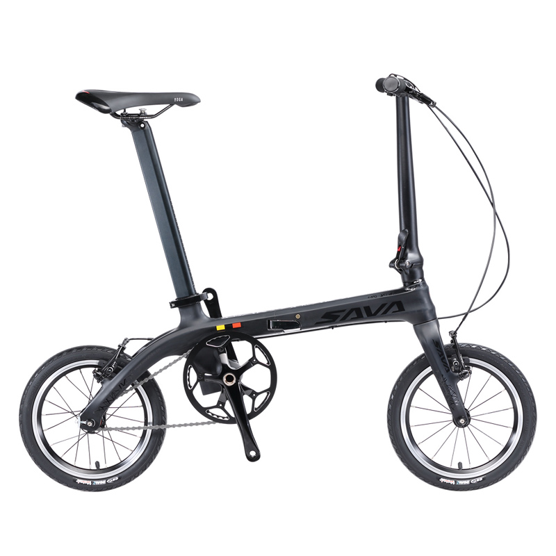 SAVA Faltrad Mini Klapp Fahrrad 14 zoll Carbon Faser Kind Fahrrad Mini City Urban Fahrrad Faltbare Fahrrad Mit Scheinwerfer-in Fahrrad aus Sport und Unterhaltung bei title=