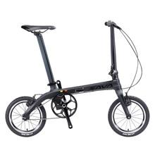 SAVA Folding Bike Mini Folding Bicycle 14 inch Carbon Fiber Baby Bike Mini Metropolis City Bicycle Foldable Bike With Headlights