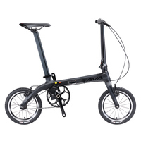 SAVA Folding Bike Mini Folding Bicycle 14 inch Carbon Fiber Child Bike Mini City Urban Bicycle Foldable Bike With Headlights