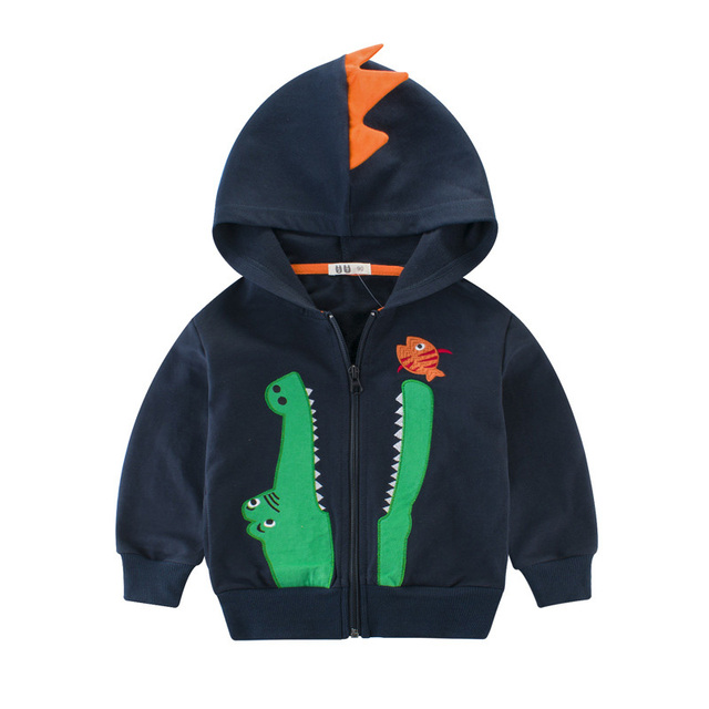 8bfa23edd3fe Baby Boys Cartoon Crocodile Hooded Autumn Jackets Kids Boy Toddlers ...