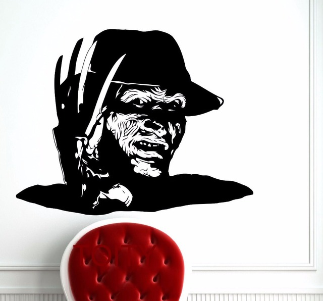 Freddy krueger wall art poster nightmare on elm street horror movie decal vinyl sticker home room