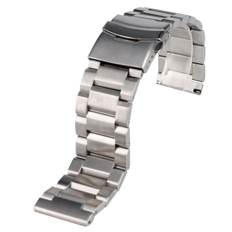 Luxury High Quality Solid Link Stainless Steel Watch Band 18mm 20mm 22mm 24mm Watch Strap + 2 Spring Bars
