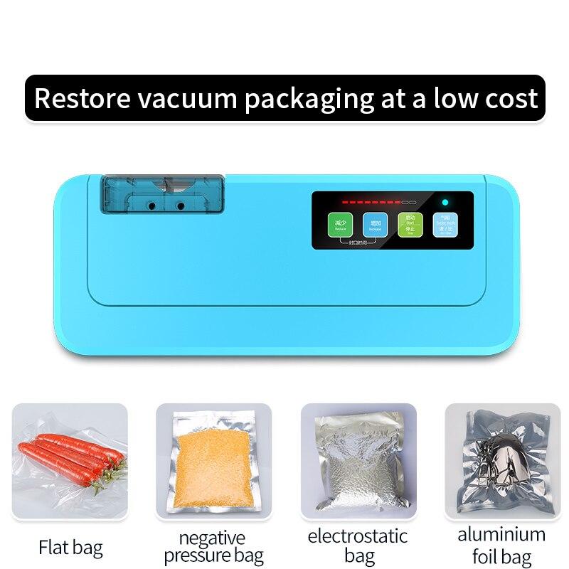 ShineYe Househlod пищевой вакуумный упаковщик упаковочная машина пленочный герметик Вакуумный упаковщик дает Бесплатные вакуумные сумки для K еда ...