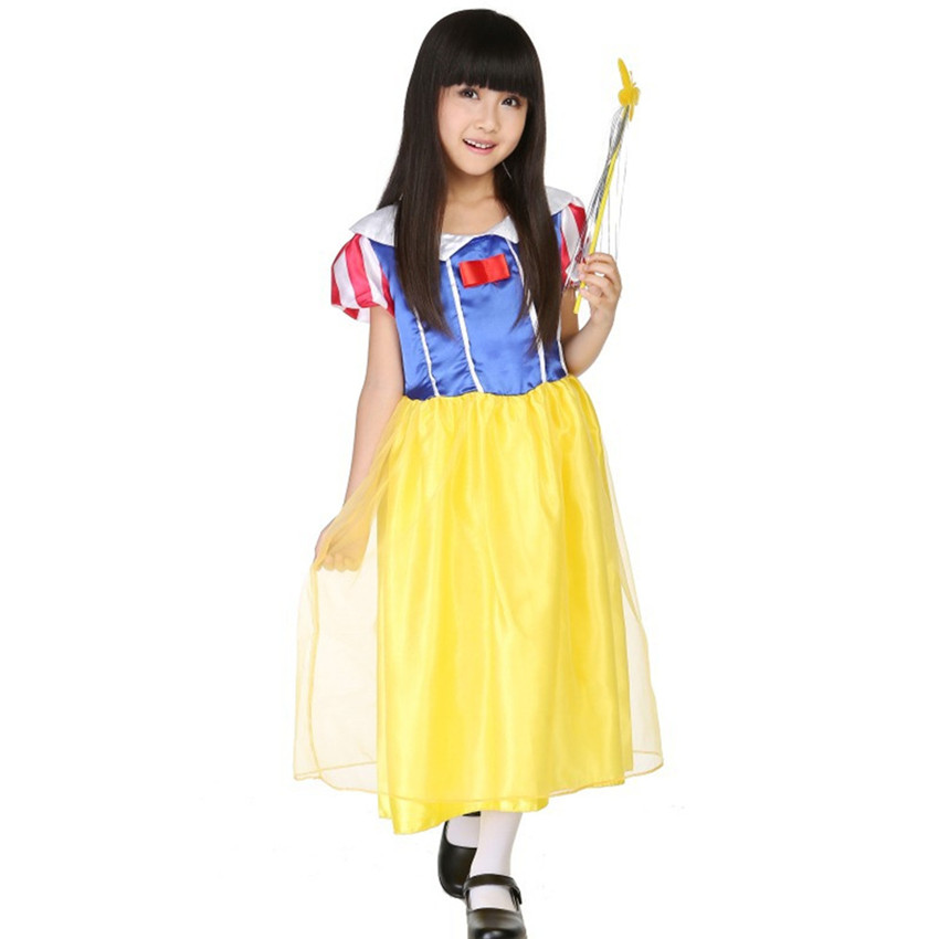 S - L Size Halloween Kids Cosplay Costumes Masquerade Party Snow White Disfraces Childrens Day Performance Clothes H156305