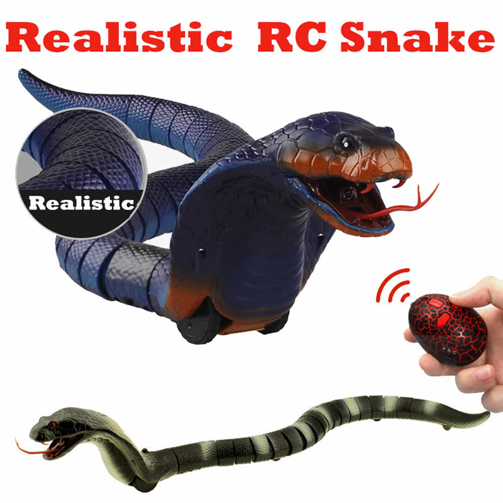 MUQGEW Nieuwigheid Afstandsbediening Slang Naja Cobra Dier Truc Angstaanjagende Mischief Speelgoed RC Snaker Safari Tuin Props Joke Prank # WS