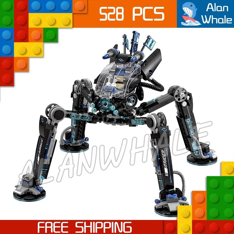 528 pièces nouveau Ninja eau Skipper mesureur Mech Robots 10717 Figure blocs de construction enfants assembler jouet Compatible avec LegoING