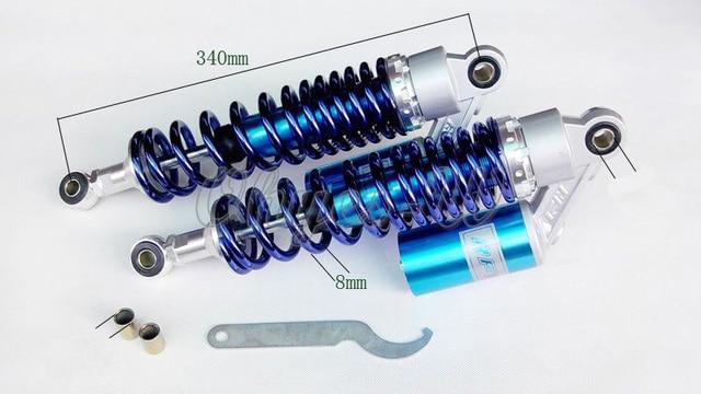 "13.5"" BLUE 340MM  RFY air gas Shock Absorber Fit 50cc, 75cc, 90cc, 125cc, 150cc, 250cc, 300cc Dirt bikes,Gokart,ATV,motorcycle"