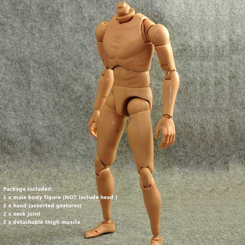 ba013a2e361 1/6 Scale Accessories Custom Ver 4.0 Narrow Shoulder Male Body 12 Inch for  Action