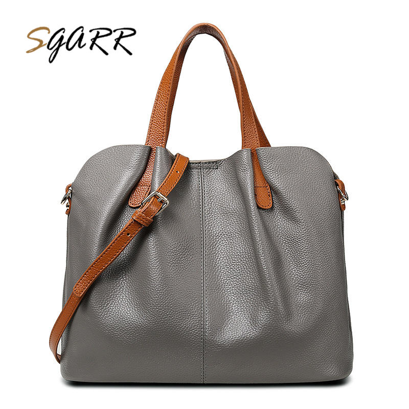 SGARR Real Cow Leather Ladies HandBags Women Genuine Leather bags Totes Messenger Bags Hign Quality Designer Luxury Brand Bag mengxilu real cow leather ladies handbags women genuine leather bags totes messenger bags hign quality designer luxury brand bag