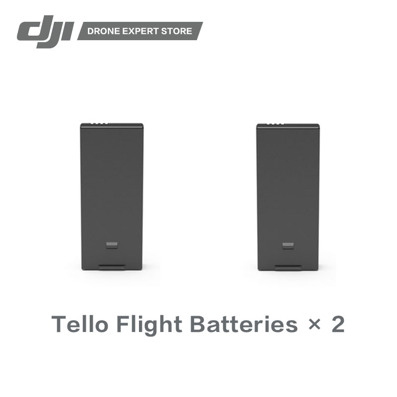 In Stock 2pcs/set DJI Original Tello Flight Battery Drone Batteries High-quality Cells tello battery charging hub designed for use with tello flight batteries accommodate up to 3 tello batteries at the same time