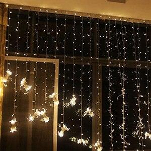 Image 5 - Guirnalda de luces LED de Navidad para boda guirnalda de luces LED para cortina, decoración de jardín, fiesta de cumpleaños, para exteriores, 3, 3 o 3x1M