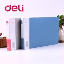Deli 1 шт папка для файлов pp наполнитель продукты с зажимом
