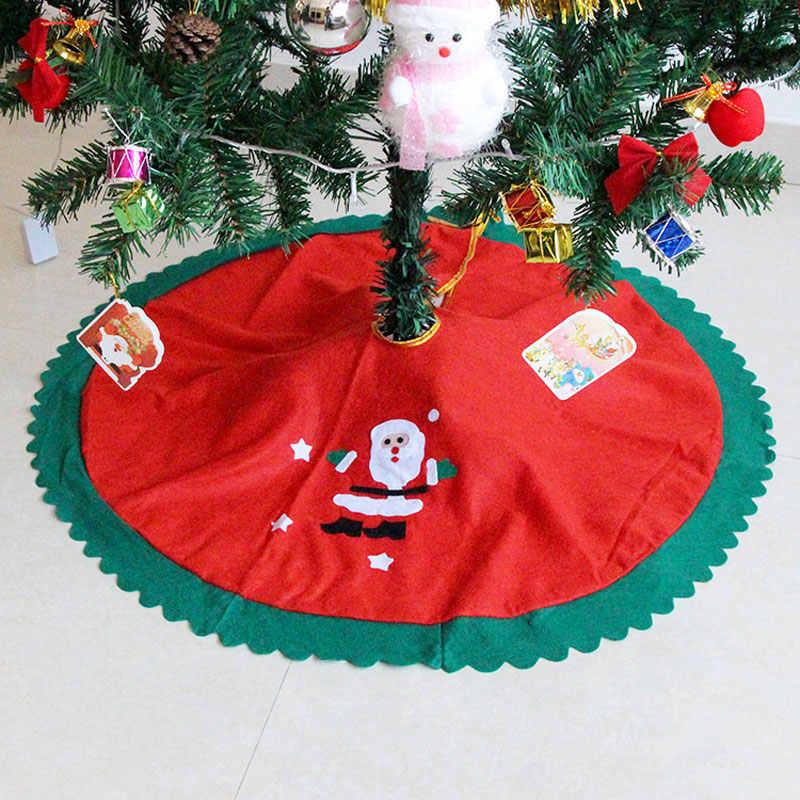 Decoracion Navidad рождественские украшения для дома 2018 прямой край 90 см Нетканая Рождественская елка юбка фартуки