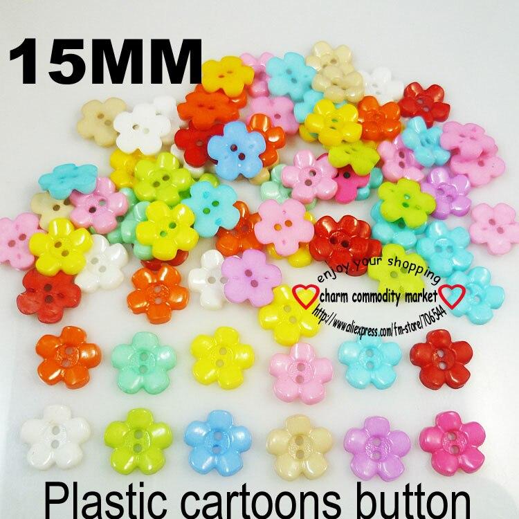 АКЦИЯ 100 шт смешанные формы много цветов Сделай Сам Скрапбукинг Мультяшные кнопки пластиковые кнопки детская одежда швейные принадлежности P-001 - Цвет: 8