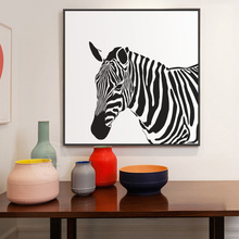 7 Colors Nordic Modern Living Room Canvas Decor Painting Simple Black And White Zebra Animals Poster HD Painted Wall Art Picture