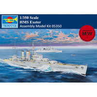 Trumpeter 05350 1/350 Scale HMS Exeter Heavy Cruiser Military Plastic Assembly Model Kit