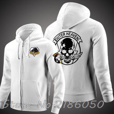 Game Metal Gear Solid Dogs Outer Heaven Logo Zip Up Print Super Warm Fleece Hoodie  Coat Sweatshirt 34445330d