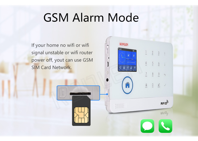 GSM WIFI alarm system with IP camera 4