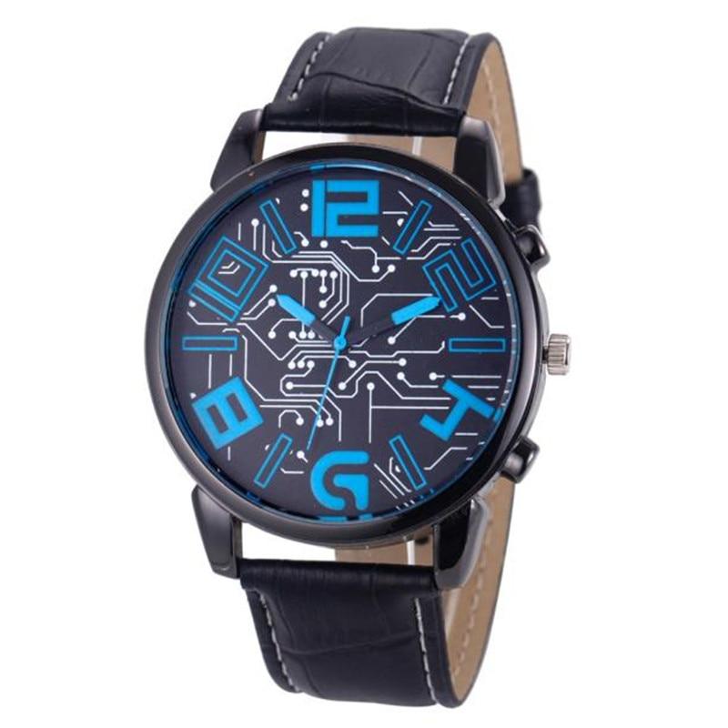 Essential New Fashion Watches Men Luxury Men's Leather Strap Analog Quartz Bangle Bracelet Wristwatches Free Shipping