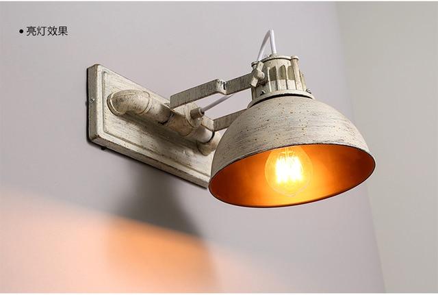 Lampada Vintage Da Parete : American vintage edison lampada da parete in ferro battuto fare
