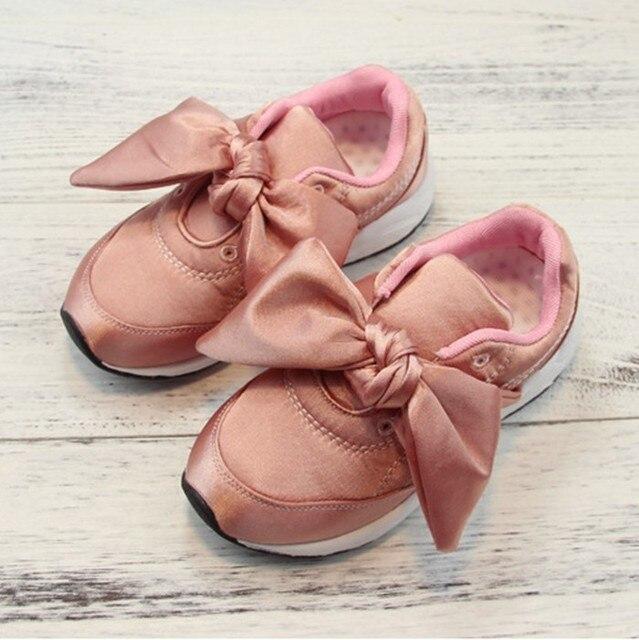 c2e5344d4efd5 LIULIVERSON ~ Otoño Nuevos Zapatos de Bebé Niña Zapatillas de Deporte  Casuales Bowtie Princesa Calzado para