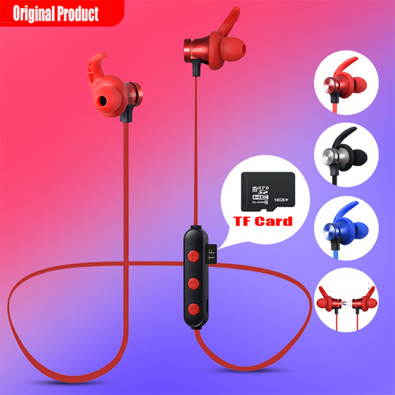 2019 New Bluetooth Headphone IPX5 Waterproof Earphone MP3 Player Stereo Headsets Wireless For Sport MIC TF Card Phone Xiaomi