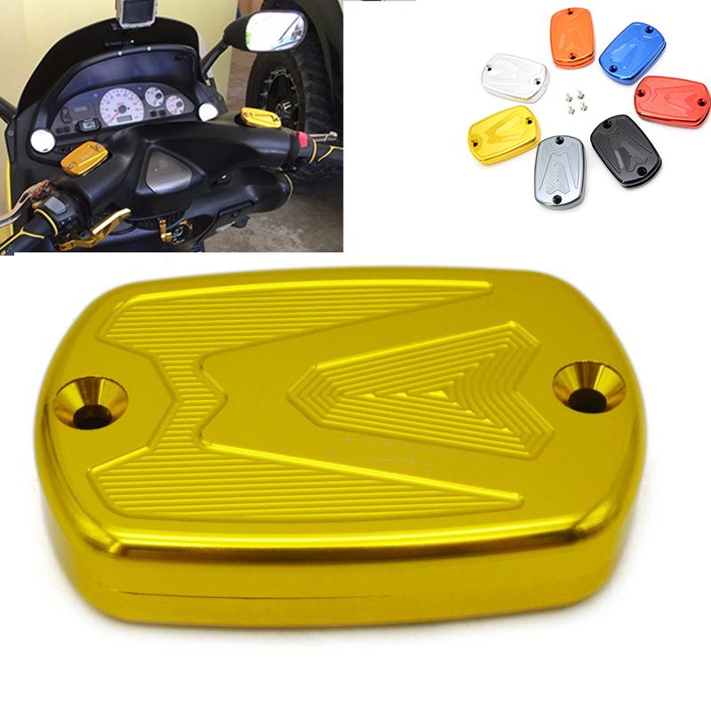 2 pieces Motorcycle CNC Front Brake Master Cylinder Fluid Reservoir Cover Cap for Yamaha Tmax 530 2012-2015 Tmax 500 2008 - 2011