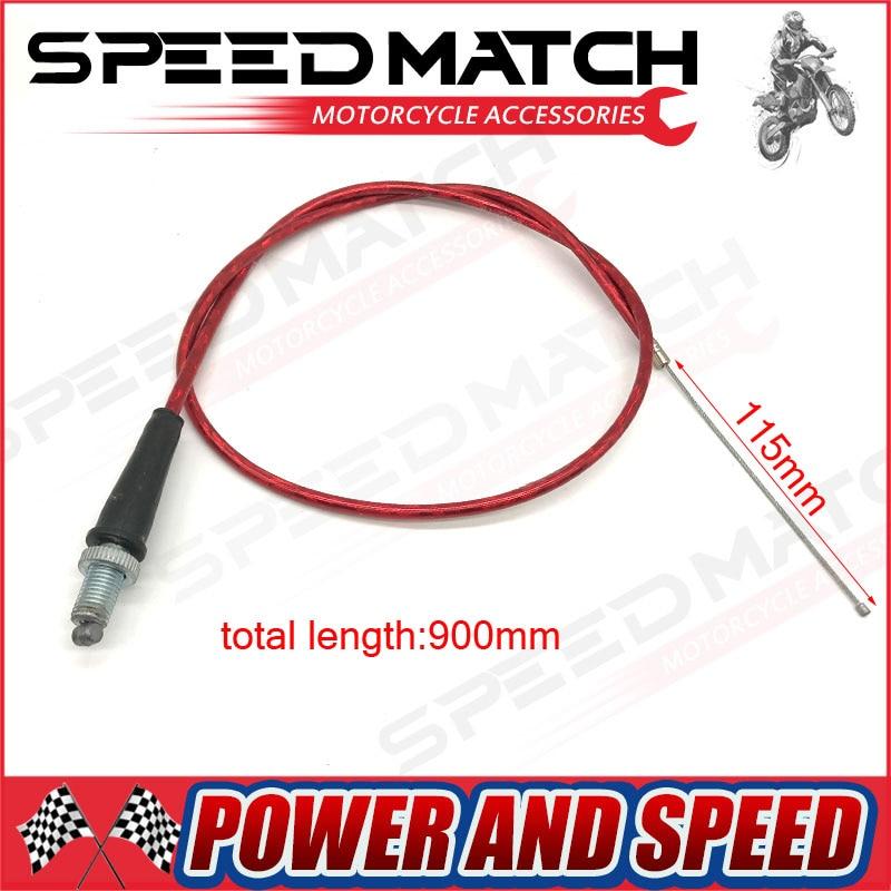 Red Throttle Cable For Chinese Pit Dirt Motor Bike Motorcycle XR50 CRF50 CRF70 KLX 110 125 SSR TTR BBR Horizontal Engine plastic kit fender for honda crf50 xr50 70 crf 50 xr 50 sdg ssr pro 50cc 110c 125cc dirt pit bike fit for kayo kr110