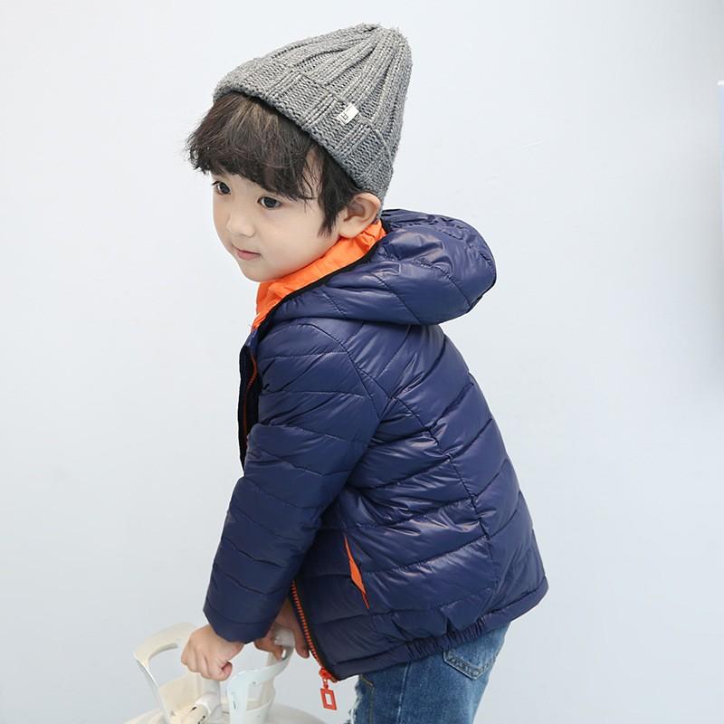 aa132b065a5a Boys Winter Jacket 2018 New Brand Hooded Kids Girls Winter Coat Long ...