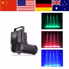 30W RGBW Disco Party DJ Club Effect Lights LED DMX512 6CH Moving Head Stage Light Beam Pinspot Party Light EU/AU/US Plug(China)