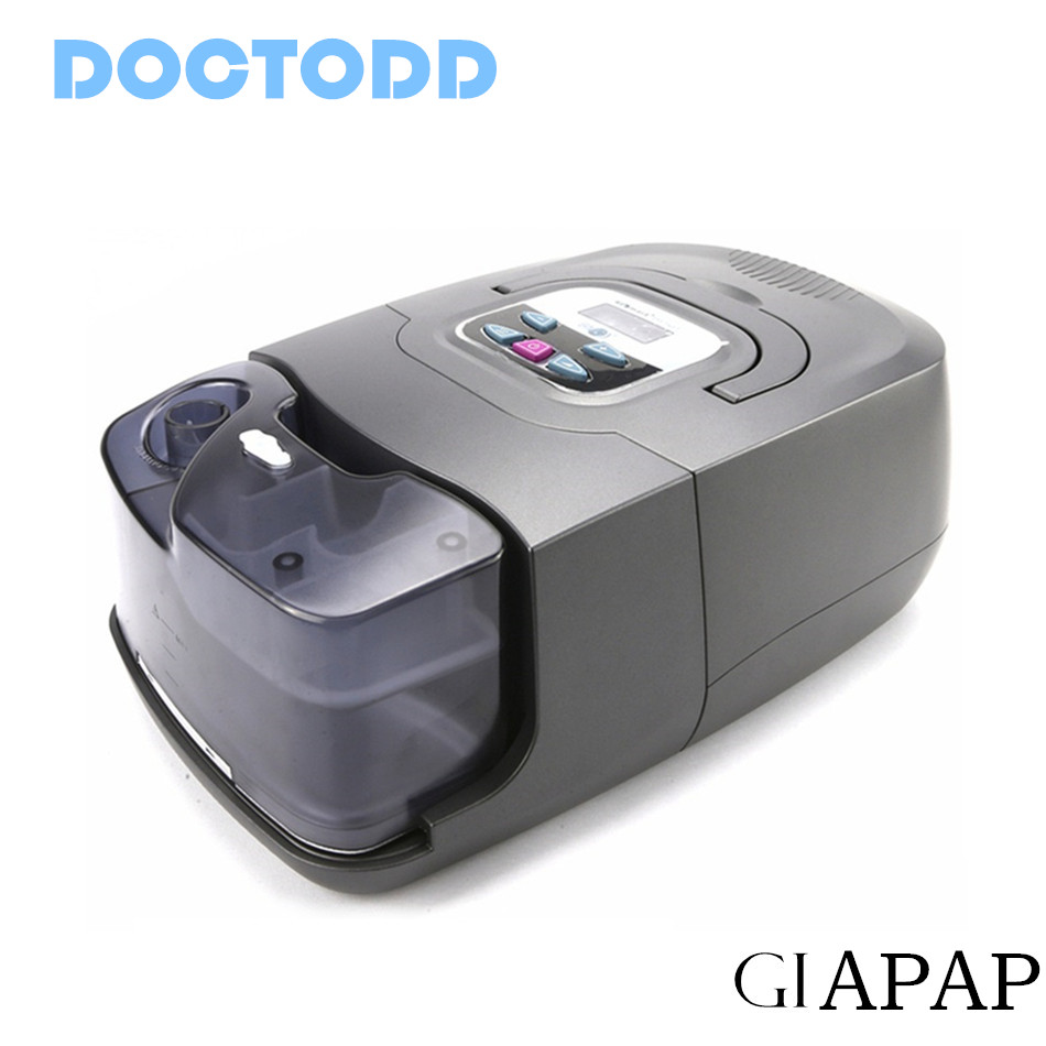Doctodd GI APAP Hot Sale Resmart GI Auto CPAP For Sleep Snoring And Apnea Therapy APAP With Humidifier Nasal Mask Tubing and Bag 2016 auto cpap machine for sleep apnea or osahs or osas or snoring people first sale on aliexpress free shipping