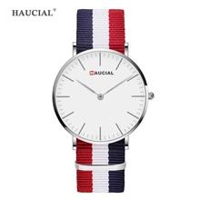 Мода нейлон кварцевые часы для Для мужчин Для женщин простой Марка Пара Наручные часы студент любовника часы Красочные Водонепроницаемый Relogio