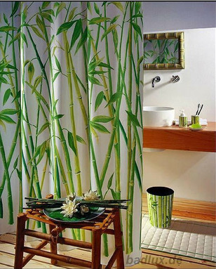 Popular Bamboo Fabric Shower Curtain-Buy Cheap Bamboo Fabric ...